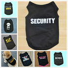 Summer Fashion Various Puppy Small Dog Cat Pet Clothes Black Vest Shirt Apparel