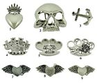 Rock Rebel Belt Buckle Gothic Vintage Silver Metal Tattoo Halloween Costume New