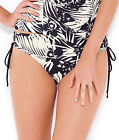 NEW Panache Claudette Draw Side Bikini Brief SW0658 Black/Ivory Sizes 8-20