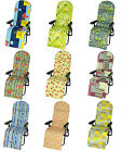 Garden Relaxer Lounger Multiposition Chair Cushion Pad Replacement 100% cotton
