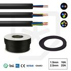 Rubber Cable 2 & 3 core 1.5 & 2.5mm HO7RN-F Heavy Duty Camping Pond Outdoor