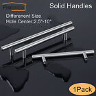 T Bar Solid Brushed Stainless Steel Cabinet Drawer Pulls Door Handles + Screws
