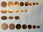 ROUND OVAL CIRCLE COPPER BLANKS JEWELLERY MAKING ENAMELLING EMBELISHMENTS CRAFTS