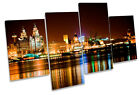 Liverpool City Skyline MULTI CANVAS WALL ART Picture Print