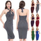 Sleeveless Women's Vintage Sexy Cocktail Evening Party Bodycon Slim Pencil Dress