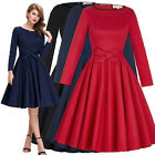 Vintage 1960s Wiggle Flared Long Sleeve Cocktail Party Pleated Swing Dance Dress