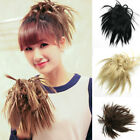 Short Fluffy Hair Synthetic Hair Piece Fashion Har Extension 4 Colors Cosplay