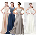 Chiffon Long Evening Dress Party Cocktail Bridesmaid Ball Gown Wedding Size 6~20