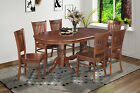 Somerville Oval Dinette Kitchen Dining Table Set With Wooden Seat In Espresso