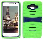 NEON GREEN & NAVY BLUE U-Case Hybrid Cover Case for Samsung Galaxy Grand Prime