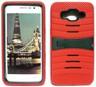 RED & ARMY GREEN U-Case Hybrid Cover Case for Samsung Galaxy Grand Prime