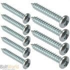 No.6 (3.5mm) POZI PAN SELF TAPPING TAPPER SCREWS ZINC PAN POZI HEAD AB POINT