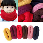 New Soft Yellow Red Warm Winter Boy Kid Child Scarf Neckerchief Round O 2-8 YRS