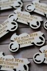 MOTORCYCLE wooden PERSONALISED wedding / CP Table Confetti Scatter Favours