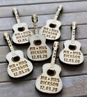 Acoustic GUITAR Wooden PERSONALISED Wedding Table Confetti Scatter Favour