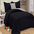 4 Piece Microfiber Quil Set Twin Coverlet Pillow shams- 6 colors