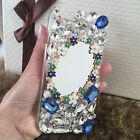 3D Luxury Bling Diamond Rhinestone Crystal Gems Jewelled Mirror Phone Case Cover