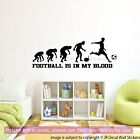 Football is in My Blood Vinyl Quote Wall Sticker Evolution Football Wall Decals