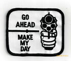 GO AHEAD MAKE MY DAY HAT PATCH CIA CONTRACTOR PIN UP SECURITY PRIVATE POLICE