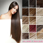 One Piece Weft Clip In 100% Remy Real Human Hair Extensions Natural Black Blonde