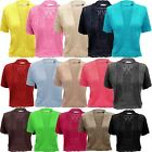 NEW LADIES WOMEN KNITTED BELTED SHORT SLEEVES SHRUG CROP TOP CARDIGAN PLUS SIZES