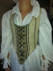 Renaissance Pirate Cosplay Fantasy Wench Gypsy Custom made Reversable Bodice