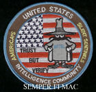 TRUST BUT VERIFY THE IC PATCH INTEL FBI DIA NRO AIA INO INTELLIGENCE PIN UP WOW