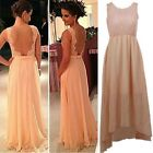 Sexy Women Lace Long Formal Prom Evening Party Bridesmaid Wedding Maxi Dress - B