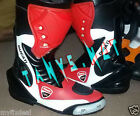 DUCATI MOTORBIKE MOTORCYCLE RACING MOTOGP LEATHER BOOTS