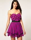 New LIPSY Ruffle Bustier BNWT £45 Prom Party Club Evening Baby Doll Skater Dress