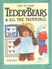 Easy-to-Make Teddy Bears and All the Trimmings PATTERNS Jodie Davis 1988 Used PB