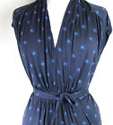 ex French Connection FCUK Ladies Jersey Maxi Dress Tie Waist Star print