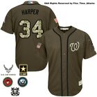 Bryce Harper Washington Nationals Mens Salute to Service Military Camo Jersey