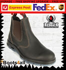 Redback Work Fire Station Boots Brown Non Steel Toe Easy Escape Style UBOK