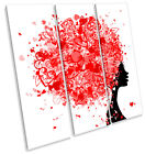 Hairstyle Hearts Fashion Hairdressers TREBLE CANVAS WALL ART Square Print Pictur