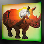 AFRICAN RHINO CANVAS WALL ART PICTURE PRINT VARIETY OF SIZES FREE UK P&P