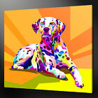 ABSTRACT DALMATIAN CANVAS WALL ART PICTURE PRINT VARIETY OF SIZES FREE UK P&P