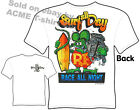 Rat Fink Shirts Surf All Day, Race All Night Big Daddy T Shirt Sz M L XL 2XL 3XL