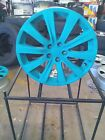 FOUR 17 INCH SUBARU IMPREZA TURQUOISE PAINTED WHEELS RIMS SET 68762 17x7 5x100