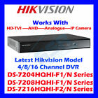 4 Hikvision Turbo DVR CCTV 1080p HD TVI Video Security Recorder DS-7204HGHI-SH