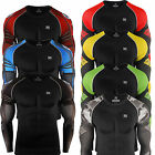 Zipravs Mens Womens Compression Longsleeve training Gym MMA Rashguard Top S~3XL