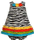 Bonnie Jean size 12M 24M Two pieces set Zebra Knit Rusching Dress