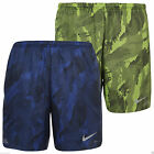 Nike Men's Fractual Printed 5 Inch Racer Short's Volt Black Game Royal