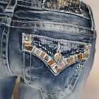 Miss Me Summer Tour Boot Cut Midrise Stretch Jeans MP7291B NEW!