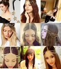 Bohemian Women Metal Rhinestone Head Piece Chain Forehead Headband Hair band