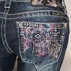 Miss Me Sequin Drama Pink Boot Cut Lowrise Stretch Jeans JP8578B NEW!
