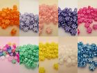 50 - 11mm Pearl Flower Pony Beads Made In USA - Color choice