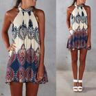 Boho Women's Sleeveless Party Evening Cocktail #B Summer Beach Short Mini Dress