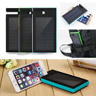 100000mAh Waterproof Solar Power Bank 2 USB Charger Battery For SamSung iPhone