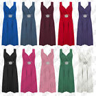 Womens Ladies New Plus Size Cross Over Wrap Buckle Long Maxi Dress 8-26